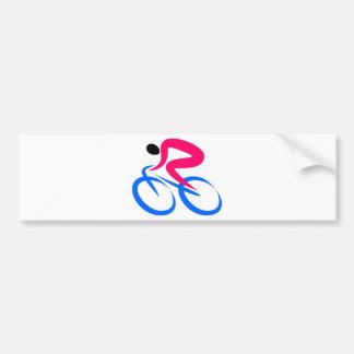 Radfahrer-Ikone Auto Aufkleber