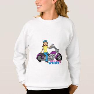 Radfahrer-Mädchen Sweatshirt