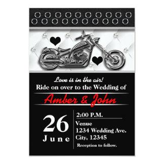 Radfahrer-Motorrad-Hochzeits-Ereignis-Einladungen Karte