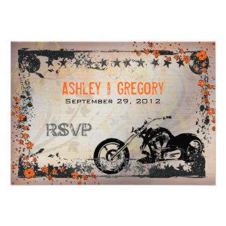 Radfahrer oder Motorcyle Hochzeit UAWG Wartekarte Einladungen