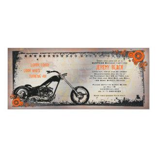 Radfahrer-oder Motorrad-Geburtstags-Einladung 10,2 X 23,5 Cm Einladungskarte