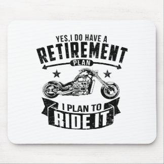 Radfahrer-Ruhestand Mousepad