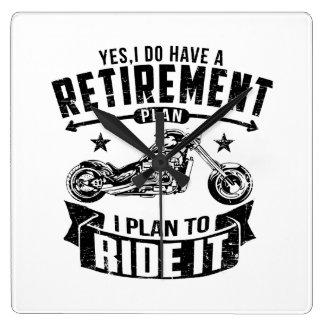 Radfahrer-Ruhestand Quadratische Wanduhr