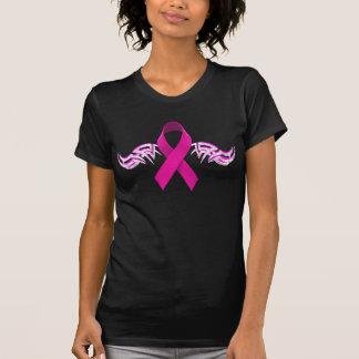 Radfahrer-Stammes- Flügel für Brustkrebs-Bewusstse Tshirt