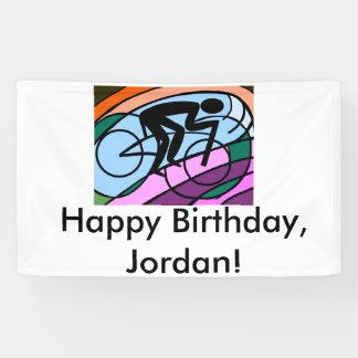 Radfahrer-ursprüngliche abstrakte Kunst Banner