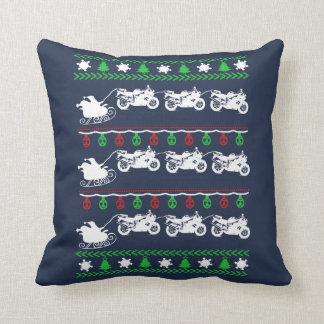 Radfahrer-Weihnachten Kissen