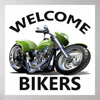 Radfahrer-Willkommensschild Poster