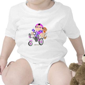 Radfahrerbabymädchen-T - Shirt