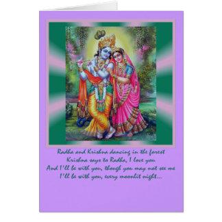 Radha Krishna Wörter Karte