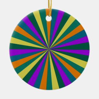 Radial Rundes Keramik Ornament