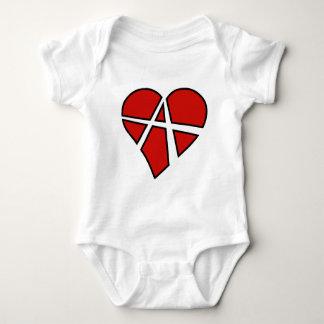 Radikale Beziehungs-leichtsinnige Herz-Anarchie Baby Strampler
