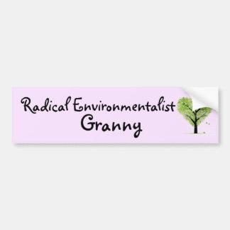 Radikale Ökologe-Oma Autoaufkleber