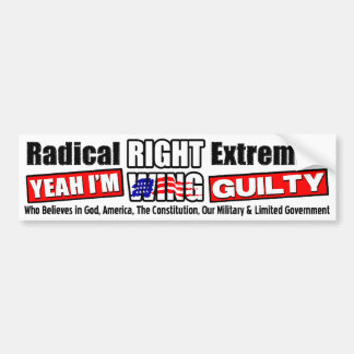 Radikaler Rechte-Extremist Autoaufkleber