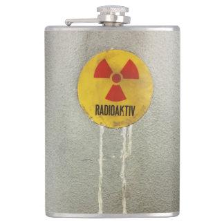 radioaktiv kontaminiert flachmann