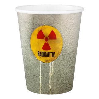 radioaktiv pappbecher