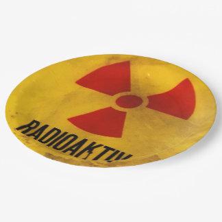 radioaktiv pappteller