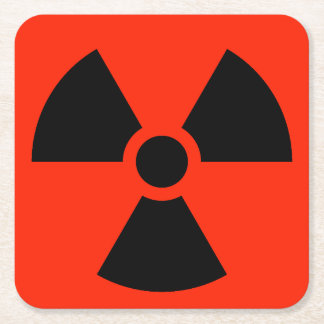 Radioaktiv Rechteckiger Pappuntersetzer