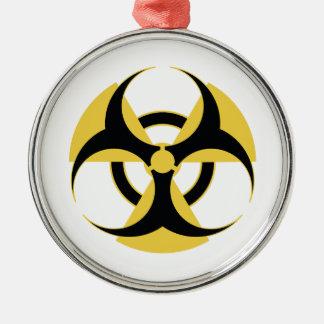 Radioaktive Biogefährdung Silbernes Ornament