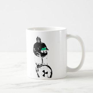 Radioaktiver Abfall-Fass-Gasmaske-Mann Kaffeetasse