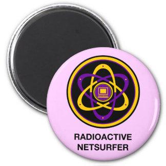 Radioaktives Netsurfer Runder Magnet 5,7 Cm