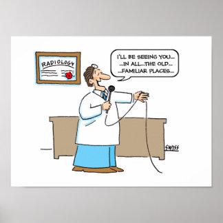Radiologe-Cartoon-Plakat Poster