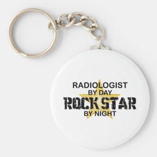 Radiologe-Rockstar bis zum Nacht Schlüsselanhänger