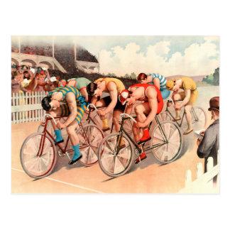 Radrennen Postkarte