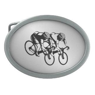 Radrennen-Silber Ovale Gürtelschnallen