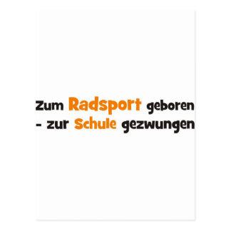 Radsport Postkarte