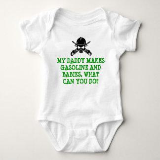 Raffinerie-Leben - Raffineriebabygang für Vati Baby Strampler