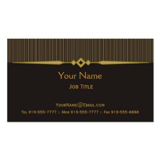 Raffiniertes Visitenkarte-Gold Visitenkarten