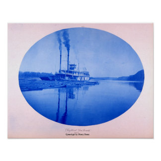 "Raftboat ""zehn Bach"", 1885 Poster"