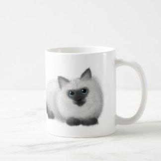 Ragdoll Zeichnen Kaffeetasse