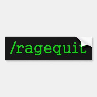 Ragequit Gamer Autoaufkleber