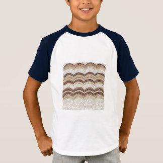 Raglan-T - Shirt der beige Mosaik-Kinder kurzer