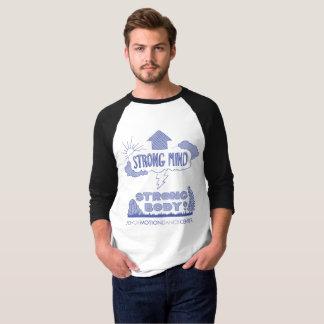 Raglan-T-Stück der Männer starker Sinnesstarkes T-Shirt