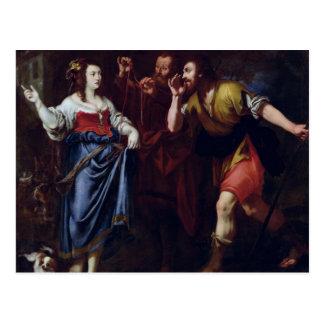 Rahab und die Abgesandte von Joshua Postkarte