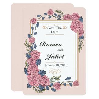 Rahmen der Rosen, die Save the Date Karte Wedding
