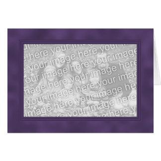 Rahmen-Schablonen-Karte - Smokey lila Karte