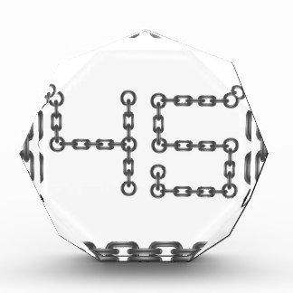 Rahmenzahlen Acryl Auszeichnung
