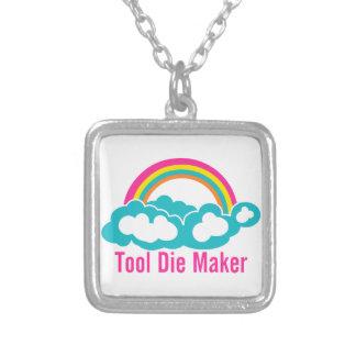 Raibow Wolken-Werkzeug die Hersteller Halskette Mit Quadratischem Anhänger