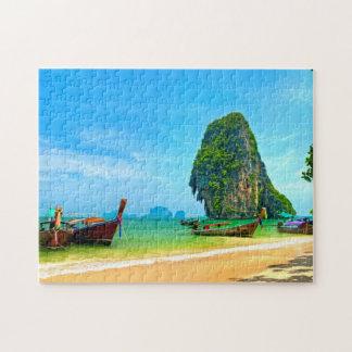 Railay Strand bei Krabi, Thailand Puzzle