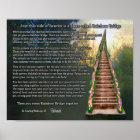 Rainbow Bridge Pet Loss Personalized Wall Print Poster