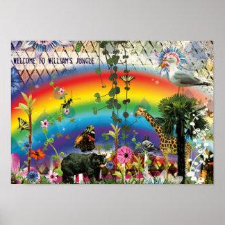 Rainbow Funny Jungle Poster