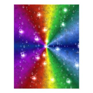 rainbow in elephant skin leatheroptik & raindrops flyer