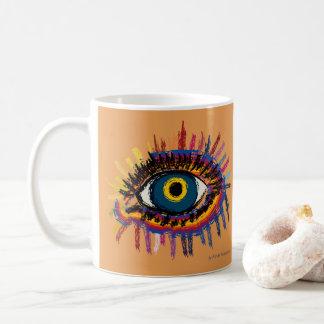 Rainboweye - orange kaffeetasse