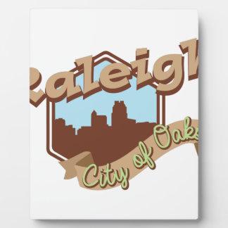 Raleigh-Stadt der Eichen Fotoplatte