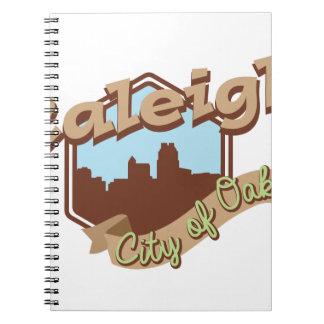 Raleigh-Stadt der Eichen Spiral Notizblock