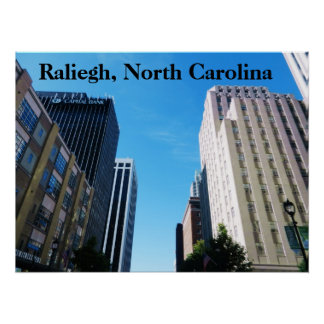 RALIEGH, NORTH CAROLINA-Plakat Poster