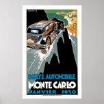 Rallye Automobil Monte Carlo Plakat